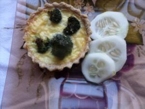 Opção pra janta Quiche integral de brócolis